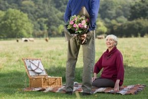 Surprise someone special with fresh flowers and a picnic.