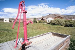 Shallow wells can provide a useful source of water in rural areas