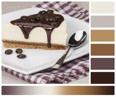 Think dessert when painting caramel because it goes with any color from oyster white to gray and dark brown.