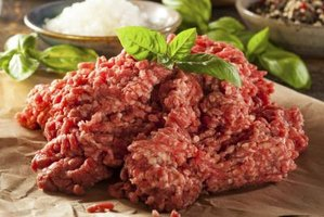 Ground meat on parchment paper