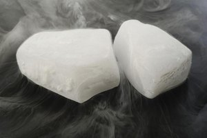 Dry ice slowly turns into vapor instead of melting.