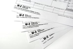 Multiple copies of W-2 forms.