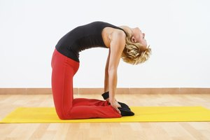 Stretch your hip flexors with yoga poses, such as Camel.
