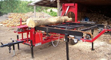 A commercial firewood processor