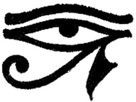 The ancient Eye of Horus symbol.