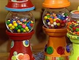 Flower Pot Gumball Machine