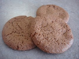 Gingersnaps on a polished concrete countertop.