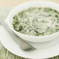 Creamed spinach makes a good hot side dish or chilled dip.