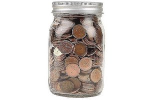 Penny jar for good luck