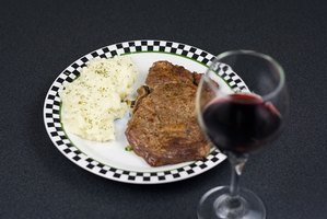 A baked, seared steak can be cooked to perfection.
