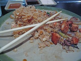 Chopsticks on a Bed of Fried Rice