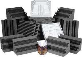 A moutain of high quality soundproofing foam