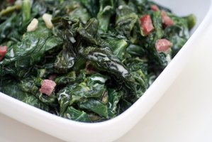 Cooked fresh spinach has a lively flavor.