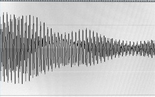 Sound waves like these combine with radio waves to form modulated waves--which is what your radio picks up!