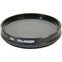 A circular polarizer reduces unwanted glare.