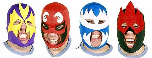 Various Wrestling Masks
