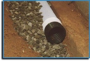Footing drains carry water safely away from the foundation.