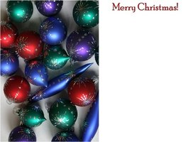 Display this Christmas card in your own Christmas card holder.