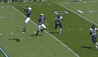 Receivers break off their routes
