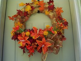Exterior Fall Straw Wreath