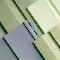 Vinly siding provides a new sleek look.