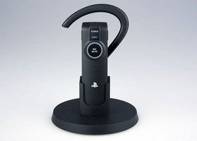 This Bluetooth headset allows you to communicate with other PS3 gamers.