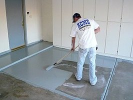 applying a garage floor coating