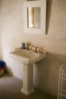 A pedestal sink is a great alternative to large vanity countertops.