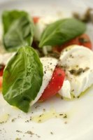 The Caprese salad is from the island of Capri, off the coast of Naples.