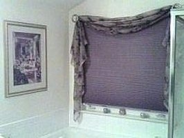 Make a Custom Window Dressing from a Shower Curtain