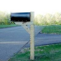 Concrete adds stability to your mailbox post.