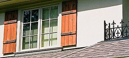 Stunning Wood Exterior Shutters Gallery - Amazing House Decorating ...