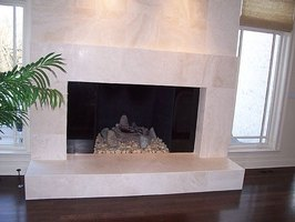 Marble fireplaces make a beautiful impression in a home.