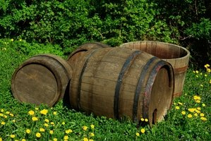 Oak barrels can be turned into water features with a few other tools.