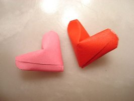 Make a Small Origami 3-D Heart