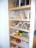 A small kitchen gets a much-needed pantry, made out of an unused closet.