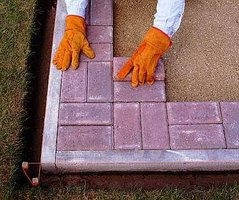 Install Patio Blocks in the Sand