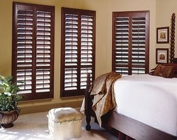 Plantation shutters make a room warm and welcoming.