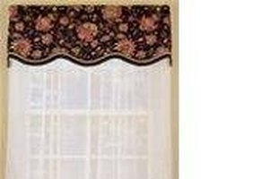 A shaped, scalloped valance.