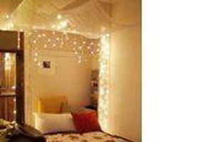 Bed Canopy With Lights how to make a lighted bed canopy | ehow