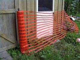 typical plastic mesh fencing is 4 feet by 50 feet