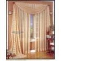 Voile curtains with scarf