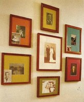 Group photos in like frames to arrange creative displays.
