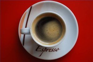 Enjoy a hot cup of espresso.