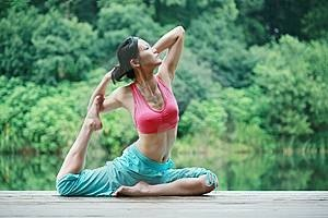 Yoga is a good way to work through knee pain.