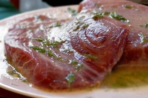 Marinating Tuna Steaks
