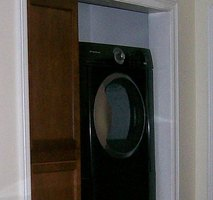 Build a laundry room in a closet