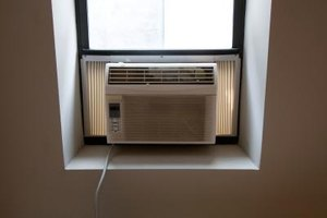 Window units use filters made of foam or mesh.