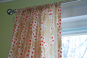 Create simple curtain panels with absolutely no sewing involved.
