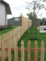 A beautiful cedar fence